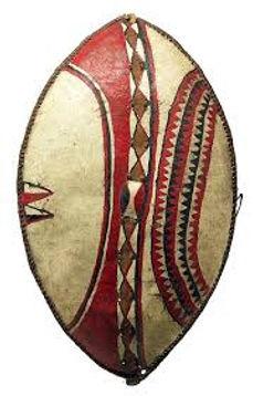 Dtraditonal Maasai shielf