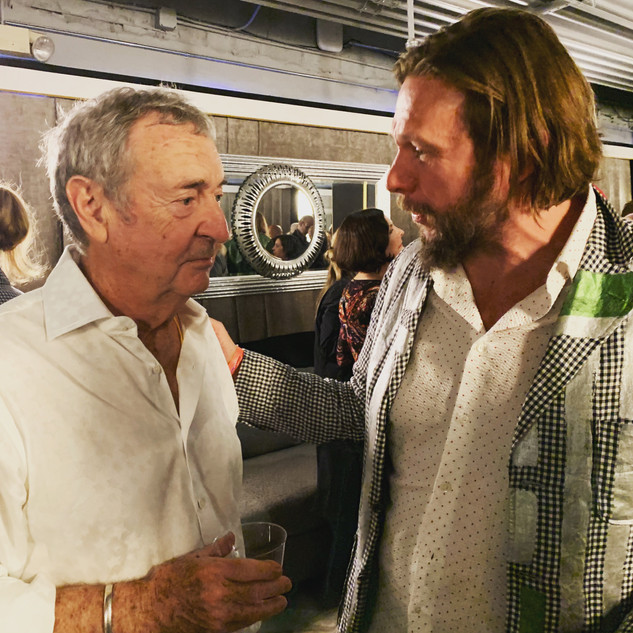 Going over a performance with Nick Mason