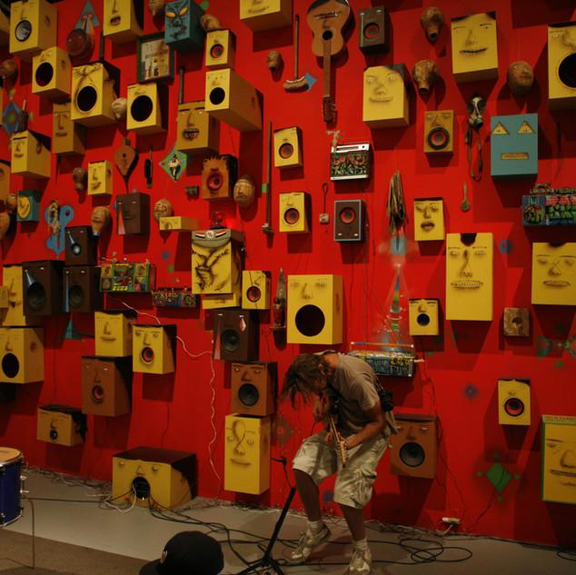 Speaker wall guitar jam.JPG