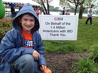 At the Take Steps Walk for Crohn's and C