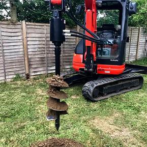 Hydraulic Post Hole Borer
