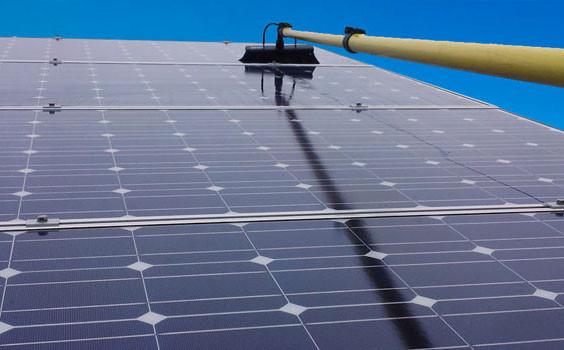 solar panels cleaned