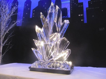Ice Shards Ice Sculpture Vodka Luge
