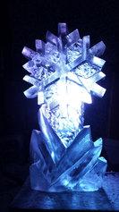 Snowflake Ice Sculpture Luge