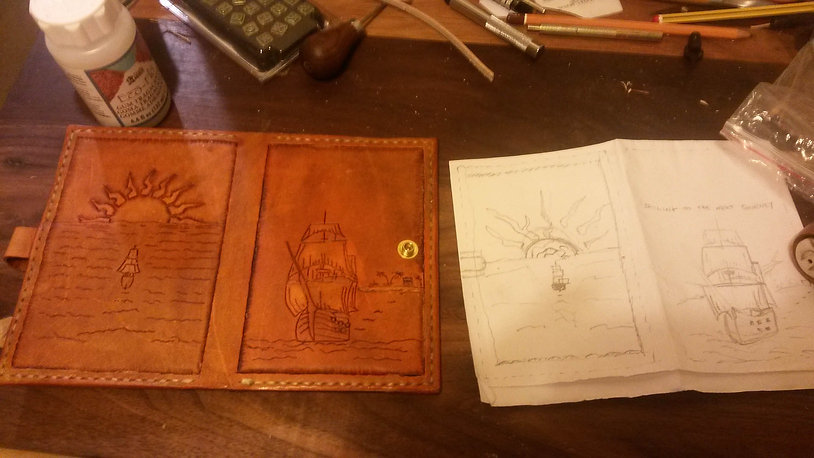 leather journal made by hand
