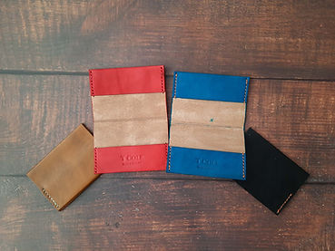 leather wallet made by hand
