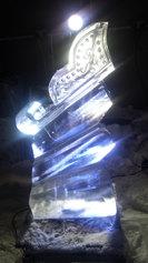 Santas Sleigh Ice Sculpture Luge