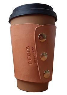 bespoke handmade coffee cup sleeve