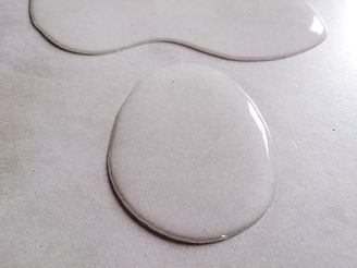 water droplet on polished plaster