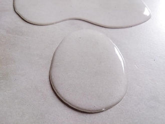 water droplet on polished plaster