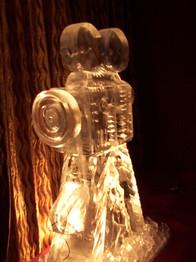 Movie Camera Ice Sculpture Vodla Luge