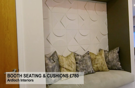 BOOTH SEATING & CUSHIONS £780