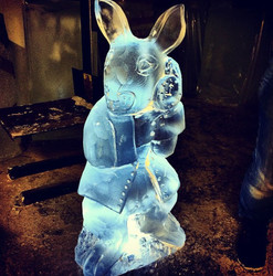White Rabbit Ice Sculpture Vodka Luge