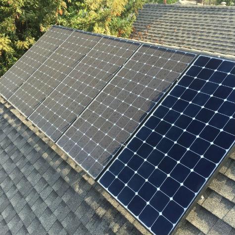Solar panel cleaned