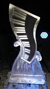 Funky Piano Keys Vodka Luge