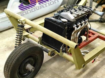 Crazy little Z800 Bike engine'd Bond Bug