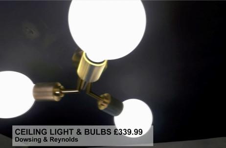 CEILING LIGHT & BULBS £339.99