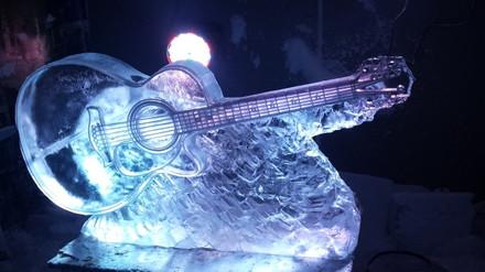 Classical Guitar Ice Sculpture Vodka Luge