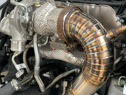 Abarth 595 Turbo conversion & bespoke downpipe