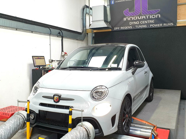 Abarth 595 in our Dyno Centre