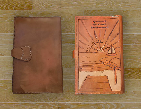 hand made leather journal cover