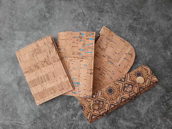 bespoke cork leather wallet