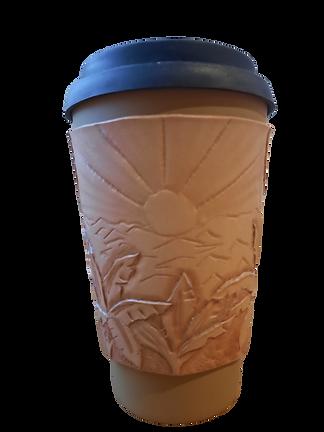 bespoke leather coffee sleeve