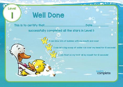 Book 1 Certificate