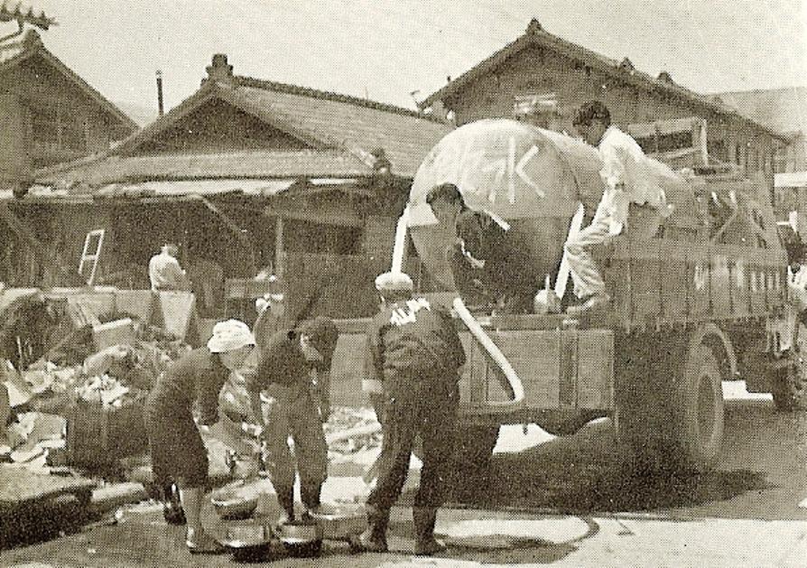 大船渡町の給水車1960年6月