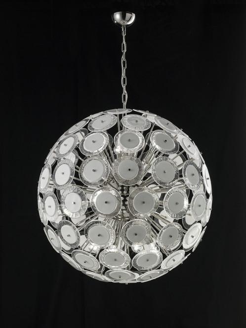 Murano glass ball pendant medium murano glass flat disk ball shaped pendant light aloadofball Choice Image