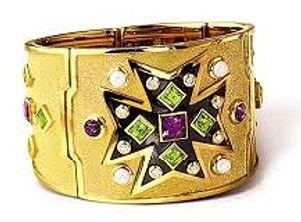 a Verdura Maltese cross cuff bracelet