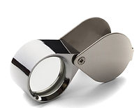 A jeweler's loupe that magnifies gemstones