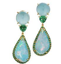 a pair of opal and gemstone earrings by Daria DeKoning
