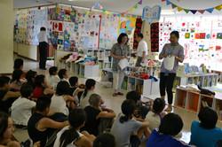 culture and community cloth letters onagawa temp school presentation linda.JPG