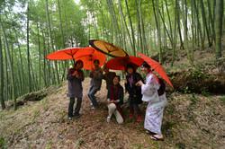 fukushima moms procession scene group photo umbrellas, bamboo, linda.jpg