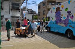 sendai local emergency practise day in one area.JPG