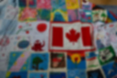 cloth letters CU with canada flag and ella first cloth letter.JPG