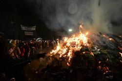 sendai burning the old at new years.JPG