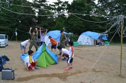 onagawa tent refugees, jeitai, linda .JPG