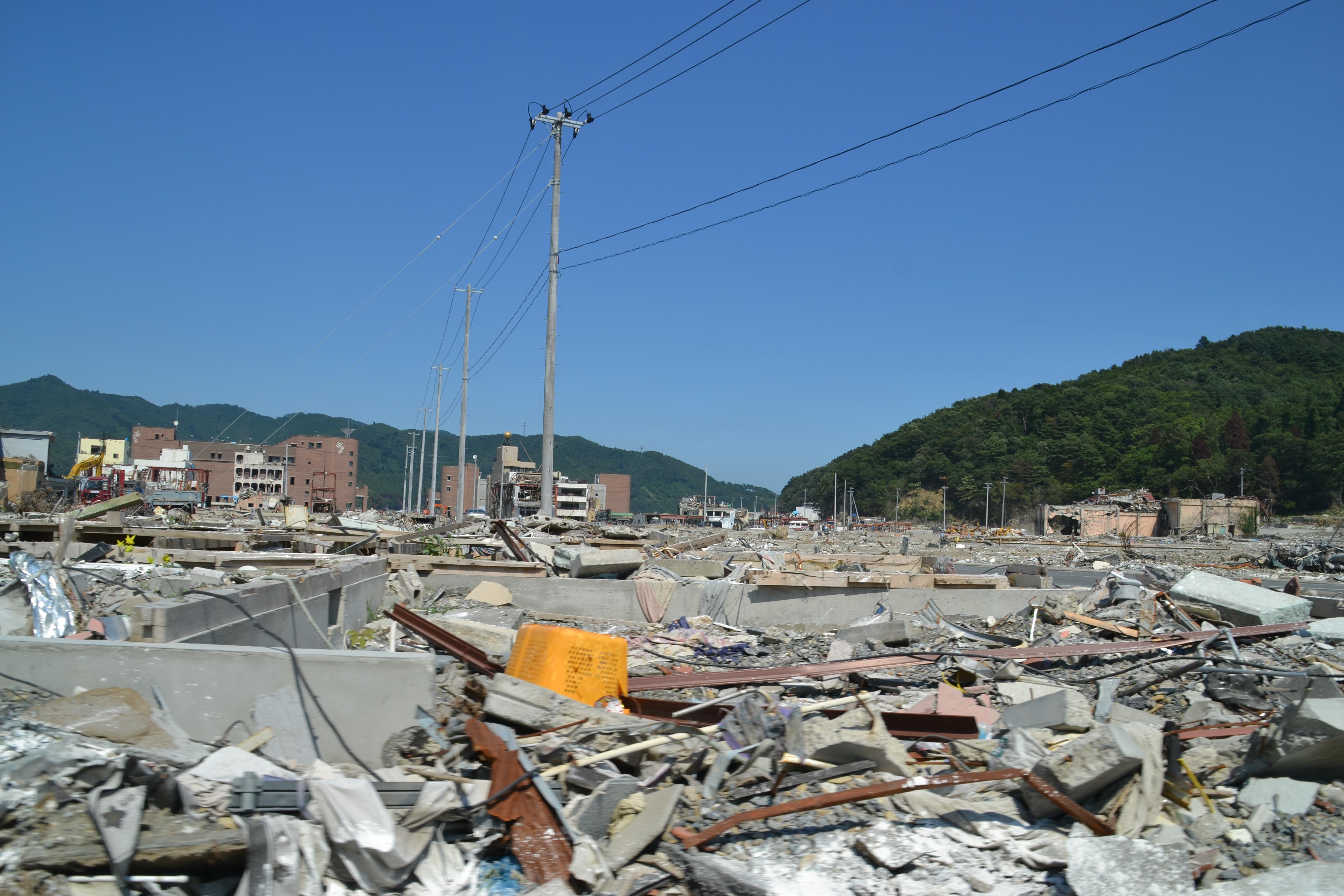 onagawa town ruins everywhere flattened.JPG