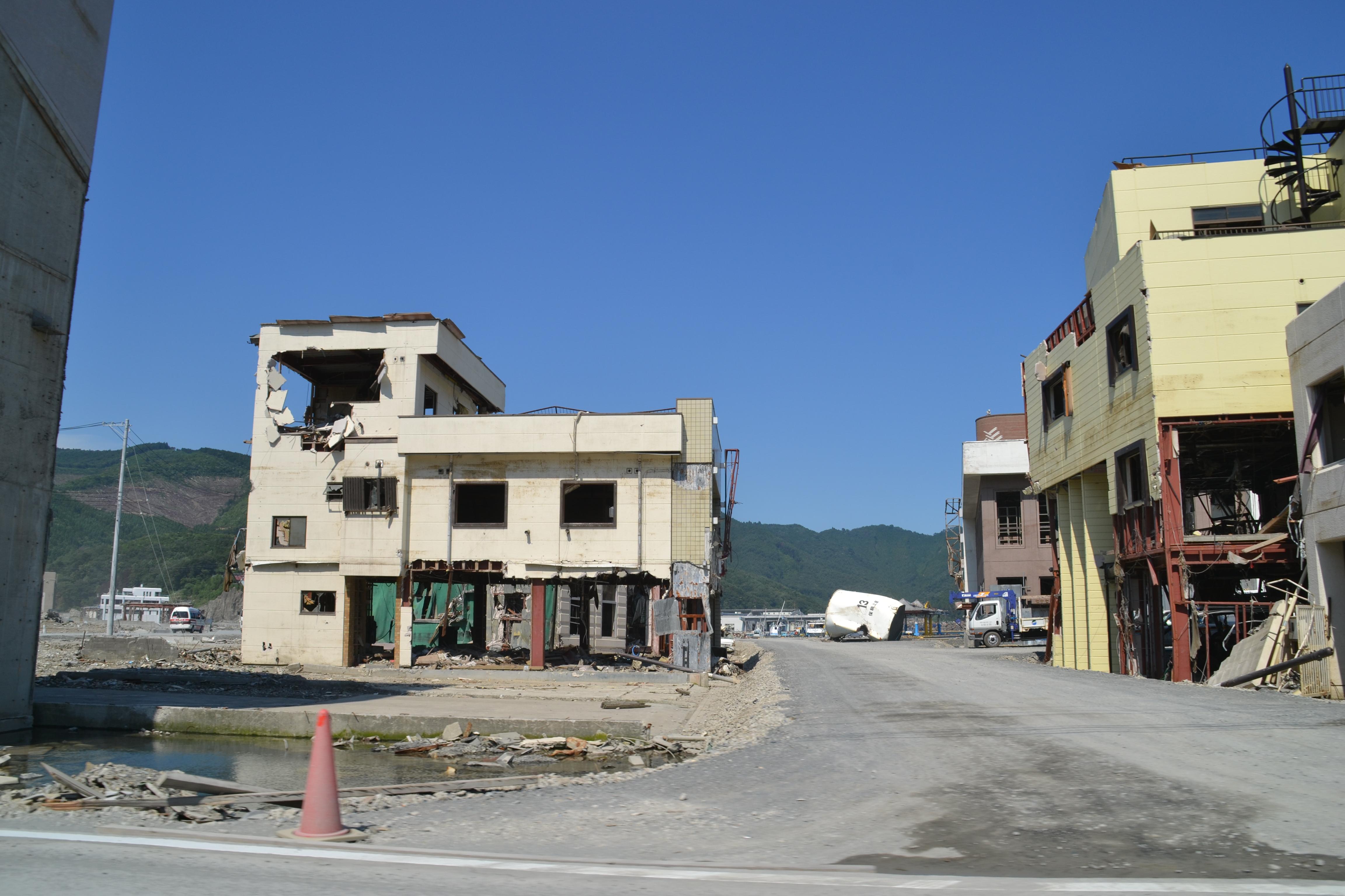 onagawa town street ruined.JPG