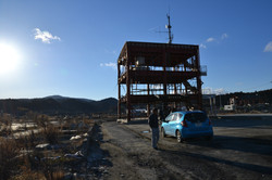 minamisinriku remains of a town and their fire station.JPG