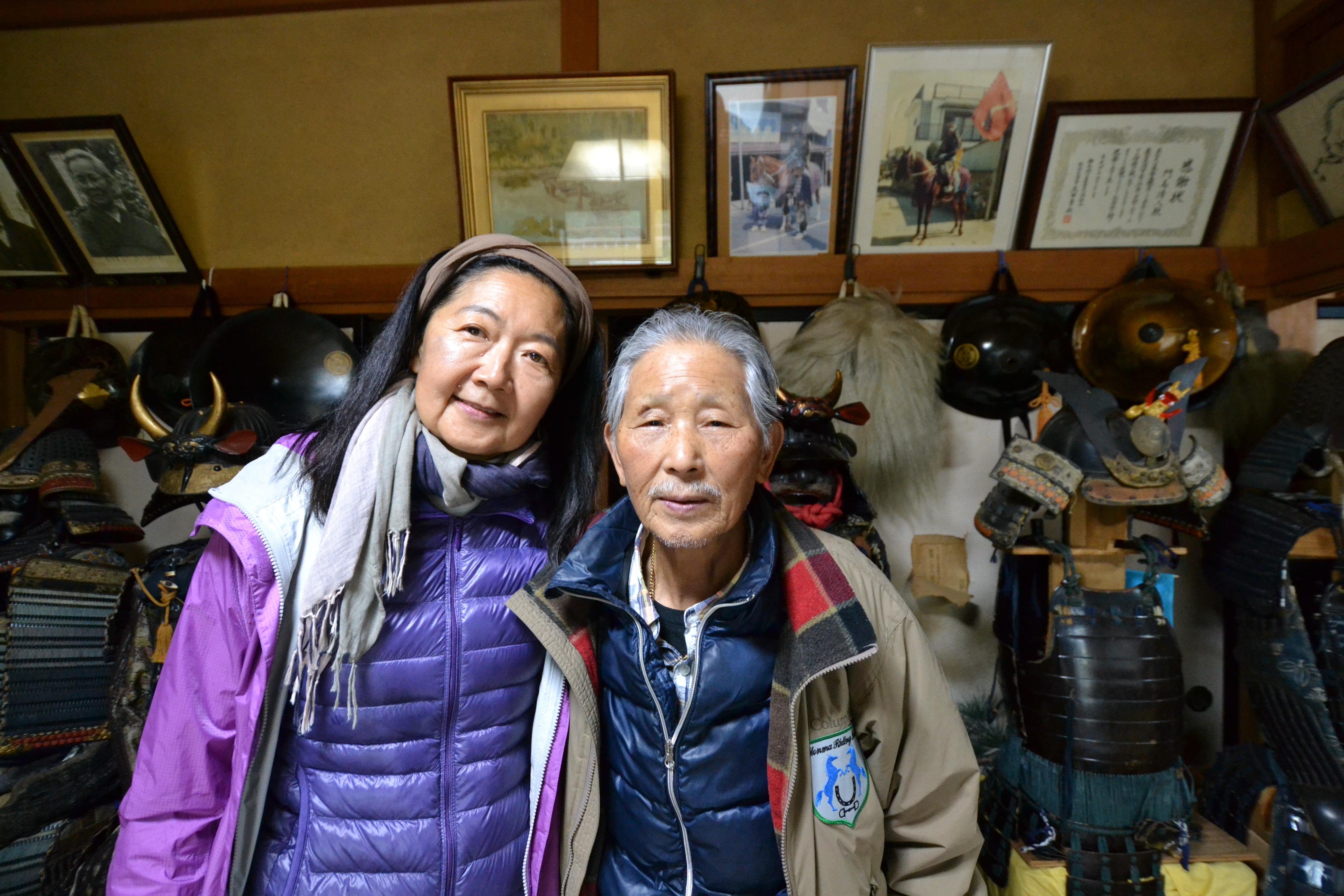 minamisoma samurai and linda armor.JPG