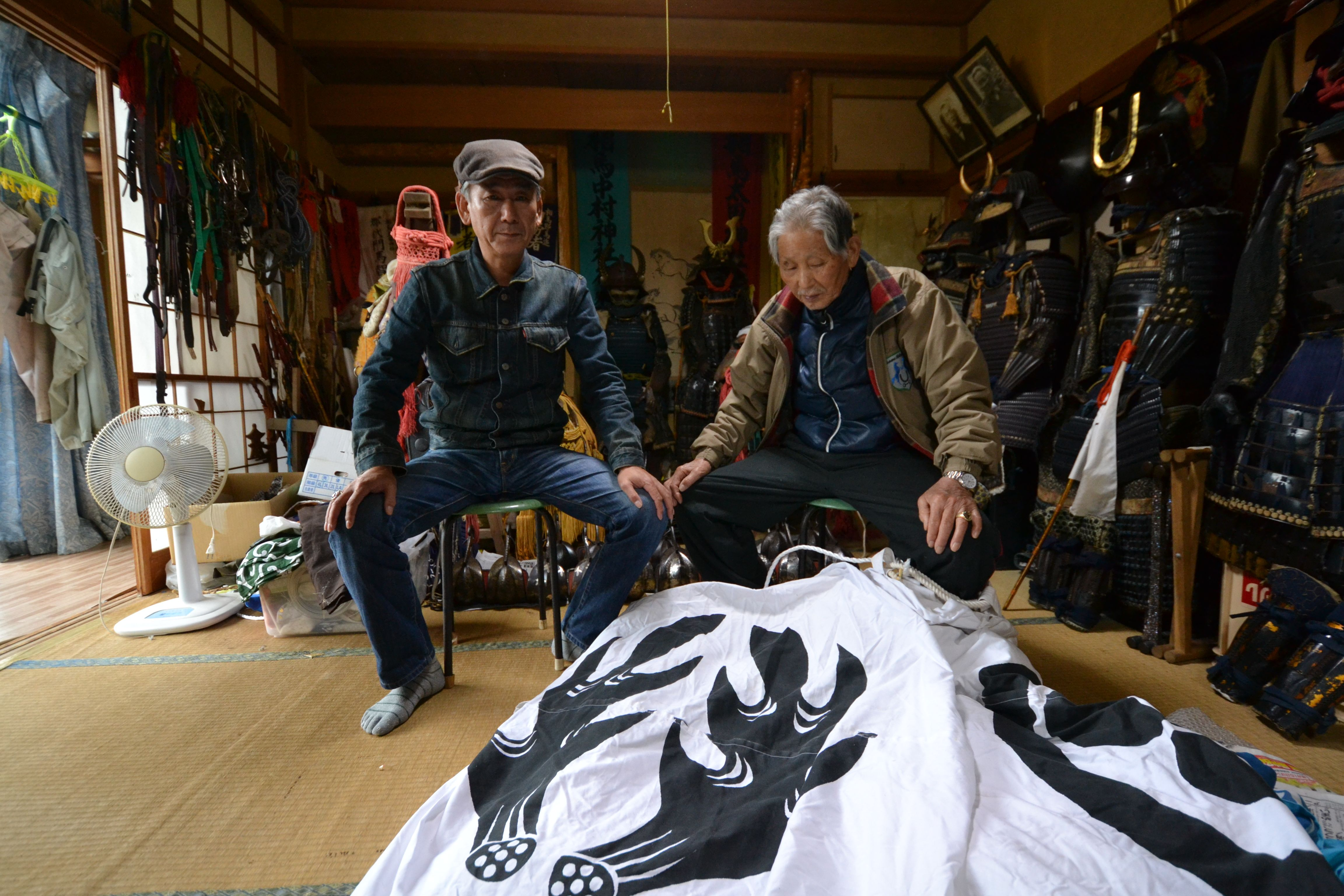 minamisoma samurai monma and son in house with armor.jpg
