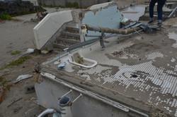 arahama remains of a house, steps and bathroom.JPG