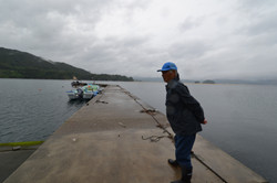 yamada oyster fisherman on dock looks out.JPG