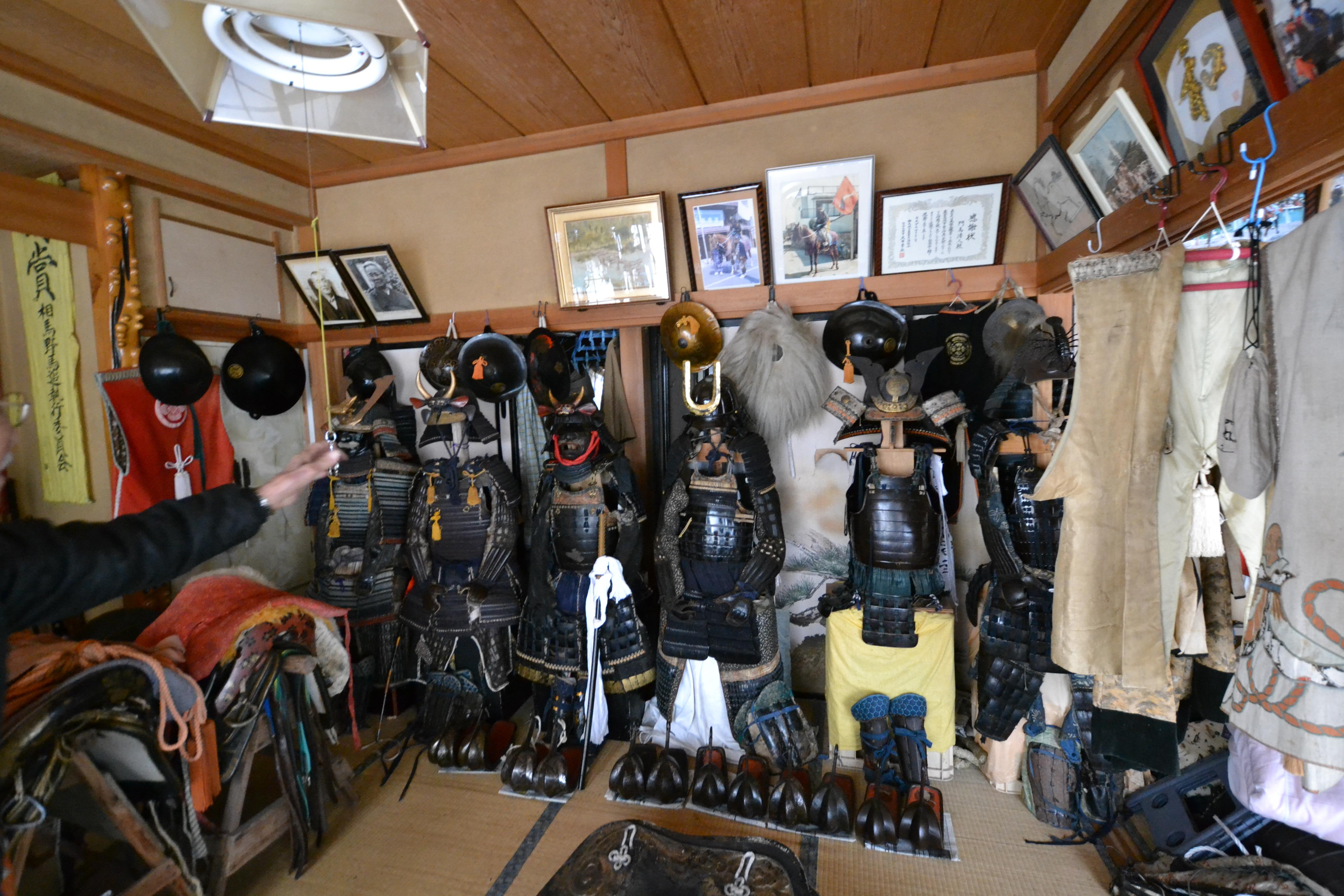 minamisoma samurai home with armor.JPG