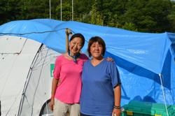 onagawa tent refugee center rayko and linda.jpg