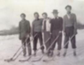 Ohama Bros on skates 1942.JPG