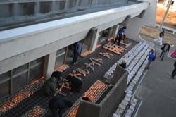 yuriage jrhi school march 11 memorial candles.JPG